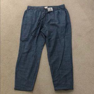 *NWT* J. Crew Chambray drawstring pants